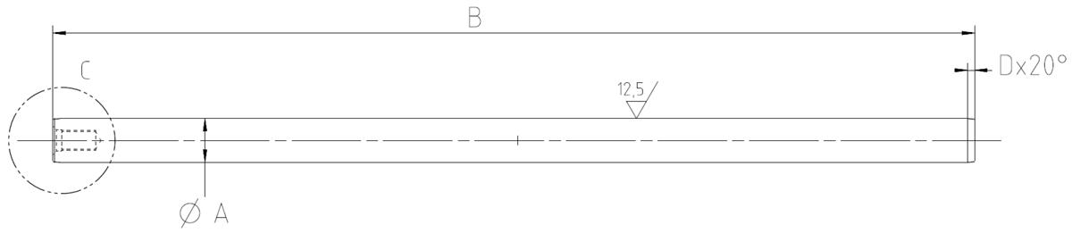 Zeichnung Beispiel Hammerachse